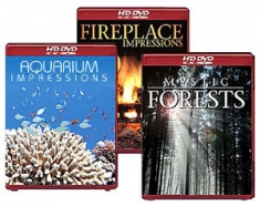 Aquarium Impressions/Fireplace Impressions/Mystic Forests [HD DVD Box Art]