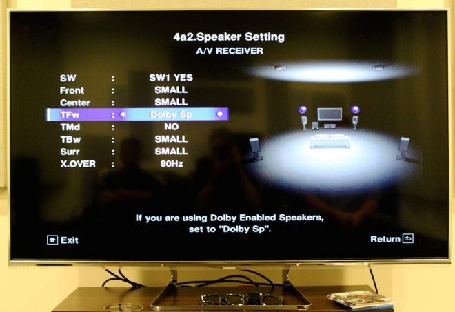 Pioneer Elite SC-89 Menu -- Atmos 5.1.4 with Dolby Speakers AND in-ceiling speakers