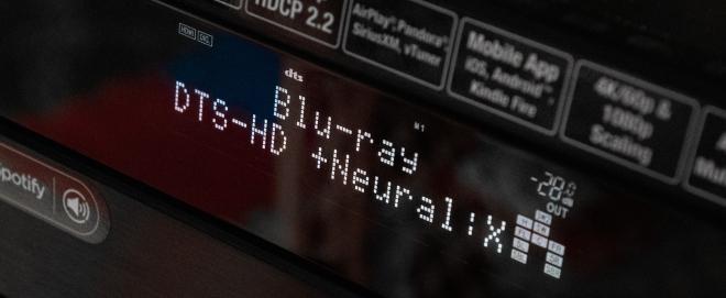 Denon AVR-X6200W: DTS-HD + Neural:X