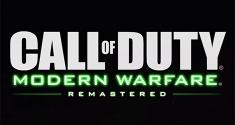 Call of Duty Modern Warfare Remastered news
