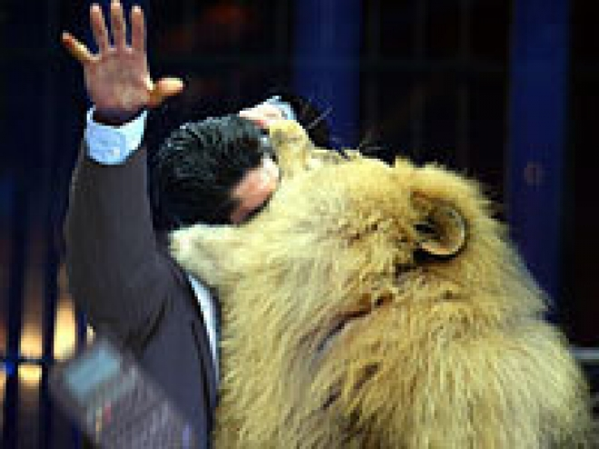 Sony Lion Eats Man