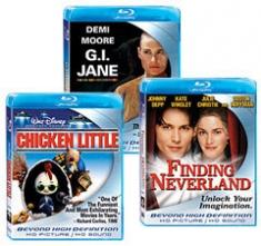 Finding Neverland, Chicken Little, G.I. Jane [Blu-ray Box Art]