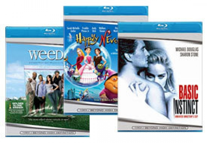 Basic Instinct, Weeds, Happily N'Ever After [Blu-ray Box Art]