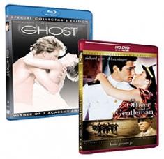 Ghost [Blu-ray Box Art], An Officer and a Gentleman [HD DVD Box Art]