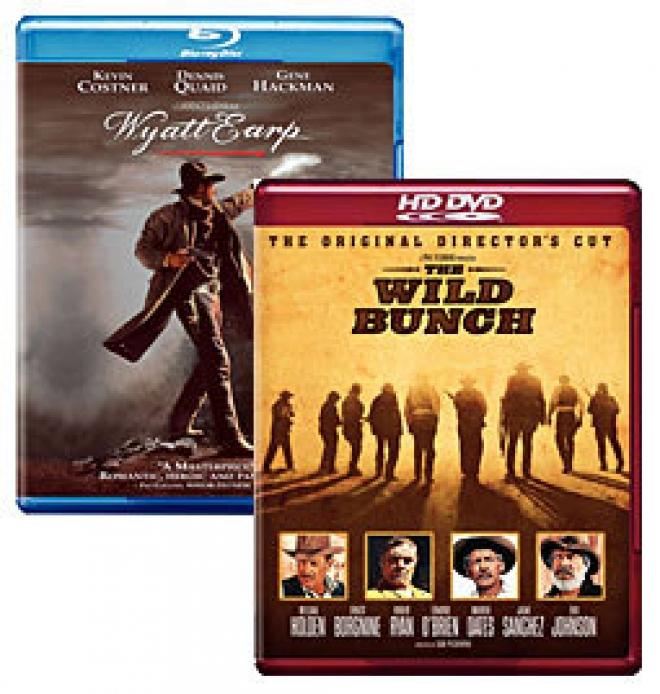 Wyatt Earp [Blu-ray Box Art], The WIld Bunch [HD DVD Box Art]