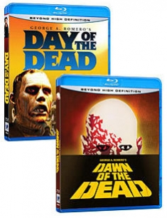 Dawn of the Dead (1978), Day of the Dead (1985) [Blu-ray Box Art]