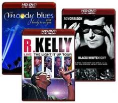 Roy Orbison, Moody Blues, R. Kelly [HD DVD Box Art]
