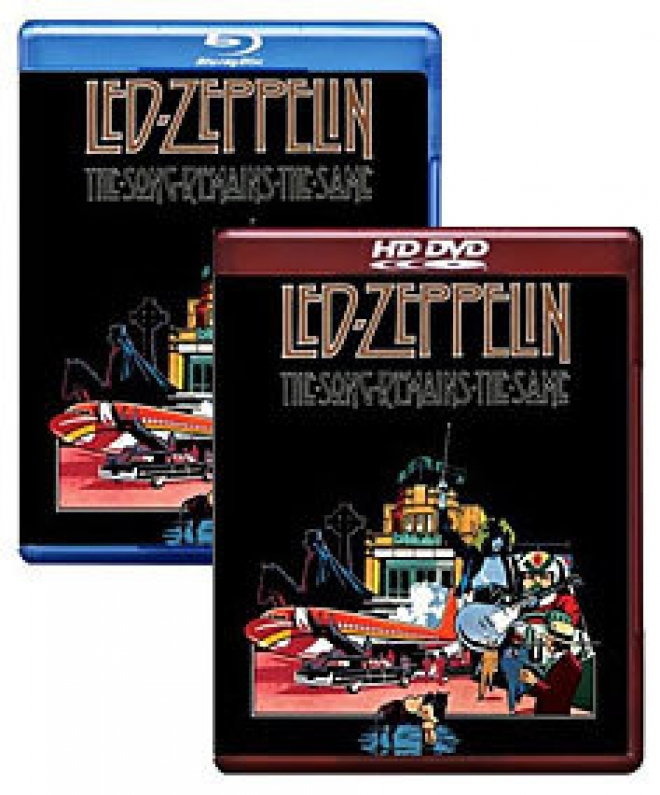 Led Zepplin: The Song Remains the Same [Blu-ray, HD DVD Box Art]