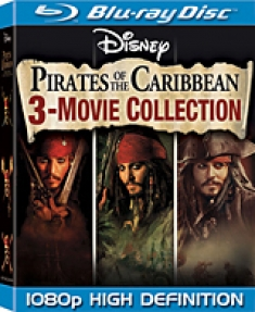 Pirates of the Caribbean: 3-Movie Collection [Blu-ray Box Art]