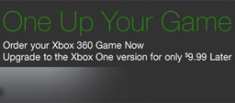 Amazon Xbox 360 to Xbox One game upgrade offer