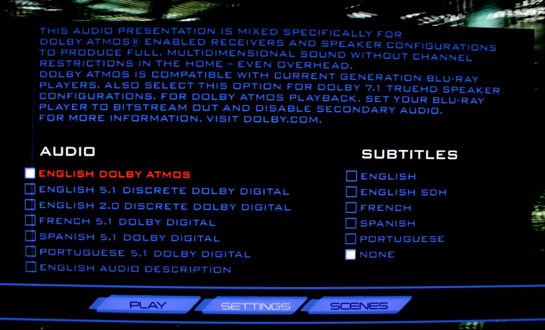English Dolby Atmos