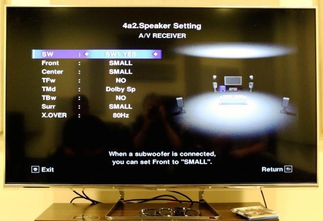 Pioneer Elite SC-89 Menu -- Atmos 5.1.2 with Dolby Speakers