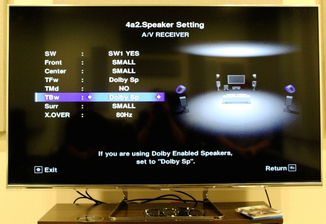 Pioneer Elite SC-89 Menu -- Atmos 5.1.4 with Dolby Speakers