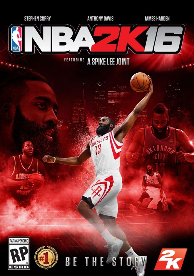 NBA 2K16 James Harden Cover