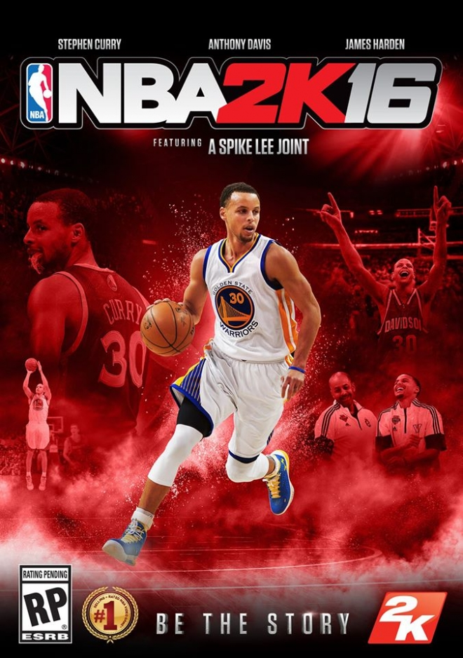 NBA 2K16 Stephen Curry Cover