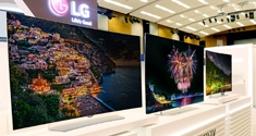 LG flat OLED 4K Ultra HD TVs