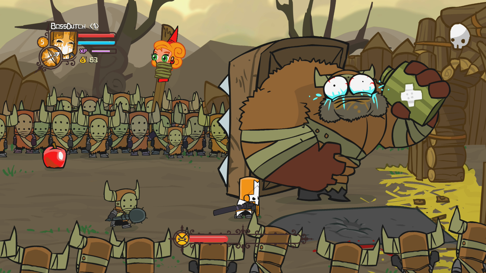 how to get hatty in castle crashers pc