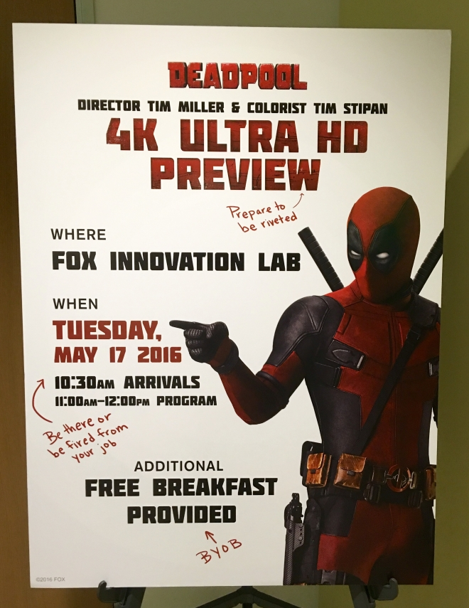 'Deadpool' UHD HDR Demo at the Fox Innovation Lab