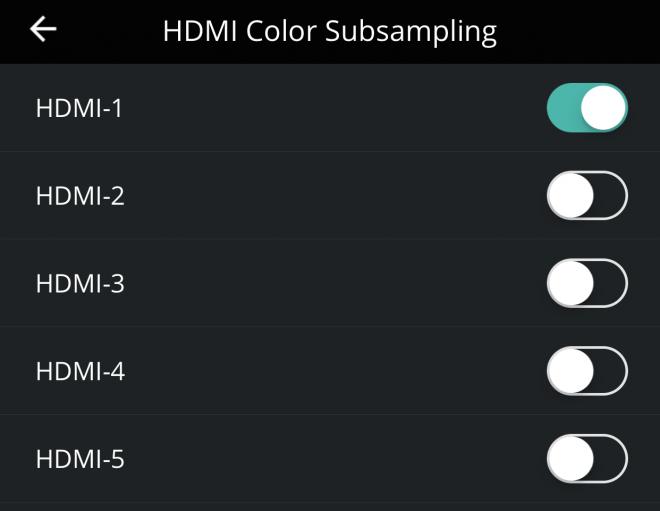 VIZIO P-Series HDMI Color Subsampling