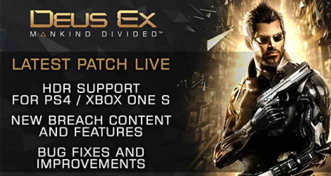 Deus Ex Mankind Divided HDR support news