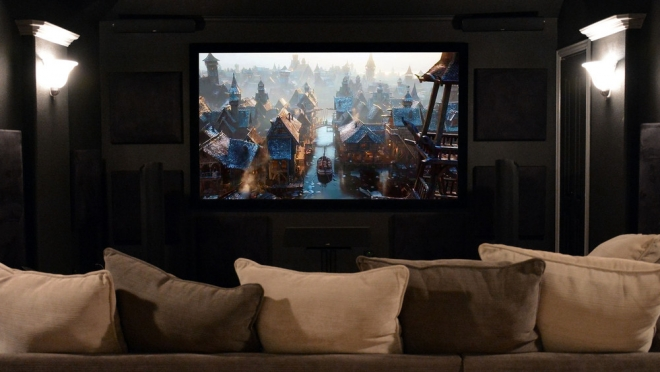 Silver Ticket Products fixed projector screen
