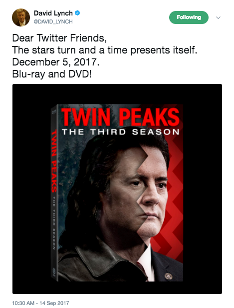 'Twin Peaks: A Limited Event Series' Blu-ray Supplements