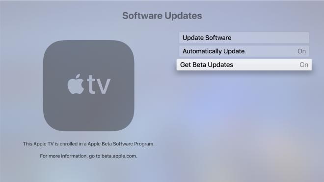 Apple TV 4K Beta Updates
