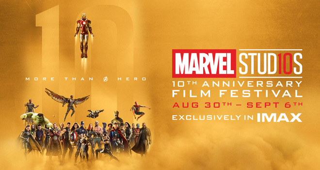 marvel 10th anniversary imax
