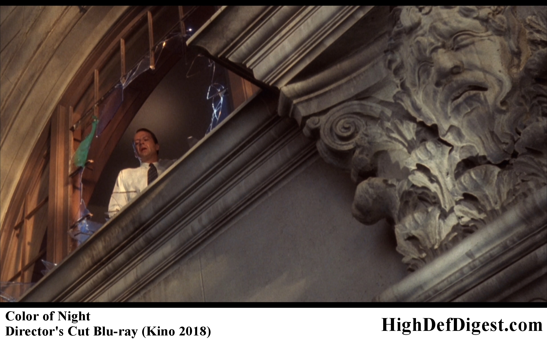 Color of Night Bruce Willis in the Window Comparison - Director's Cut